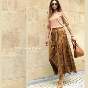Zara pleated maxi skirt